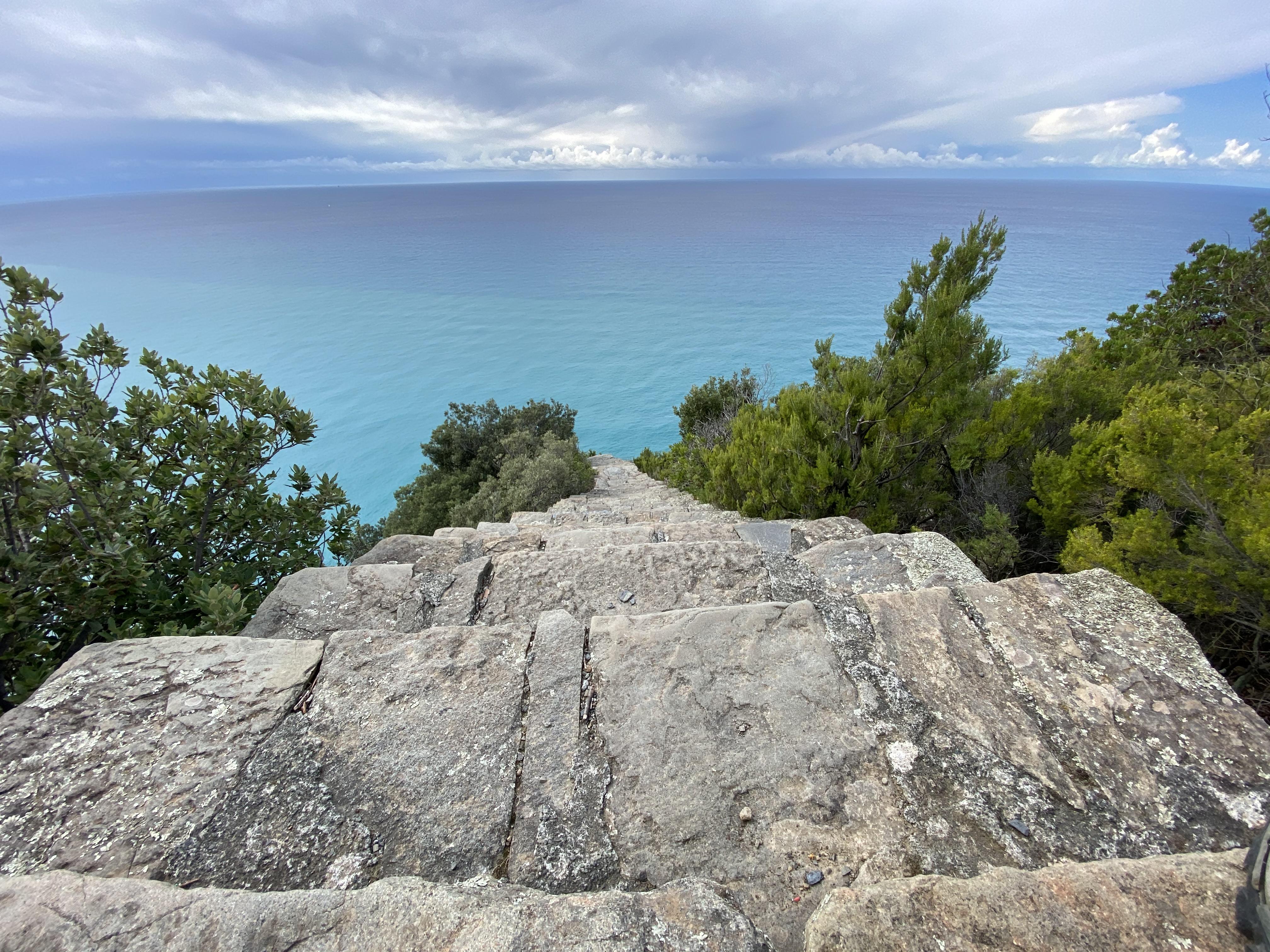 la gran escala en las Cinque Terre