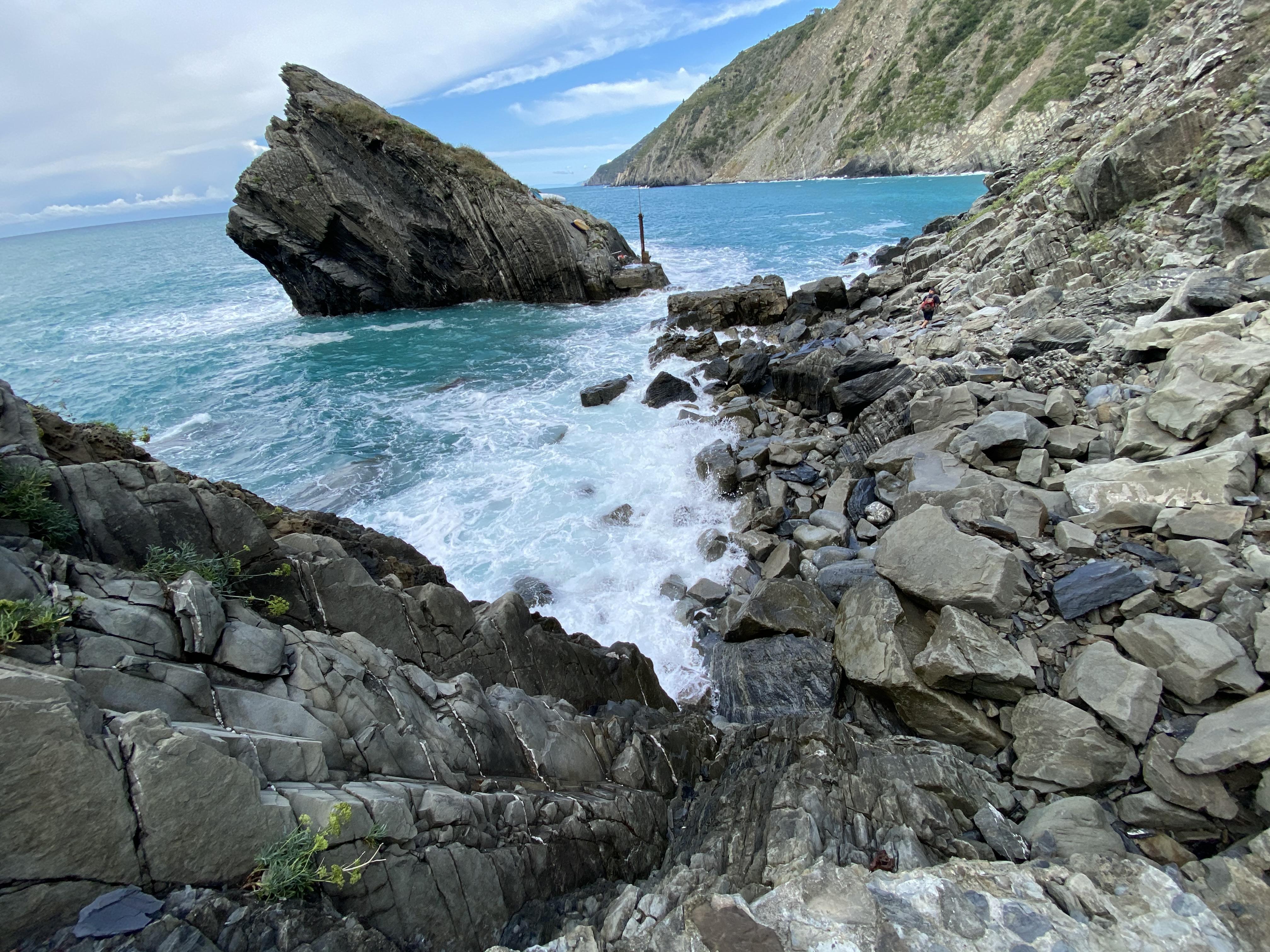pendiente de Tramonti, Monesteroli, Cinque Terre