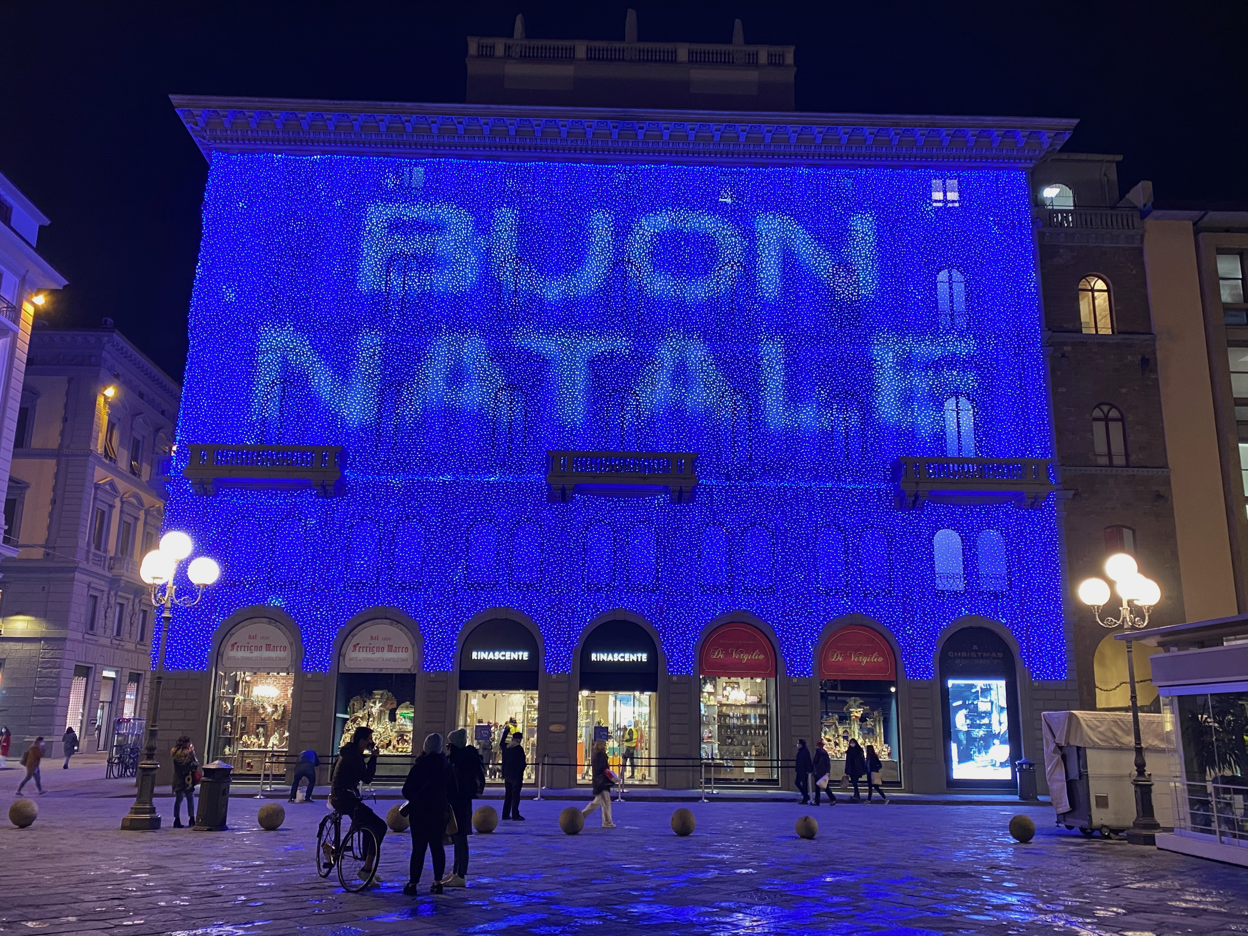 The Rinascente department store, Christmas 2020, Florence