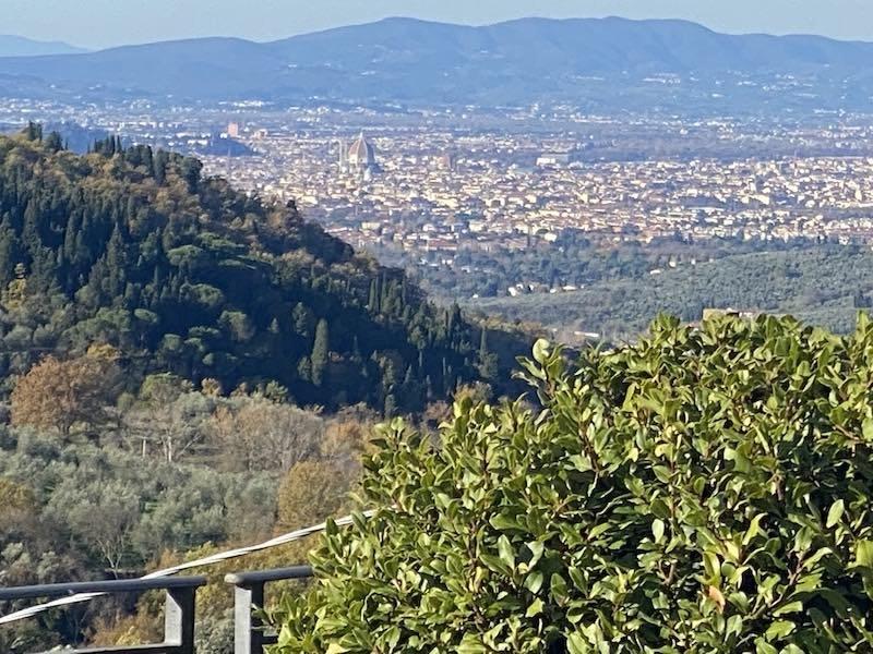 Panorama Florenz aus Ferienwohnung Florence Villa Violetta