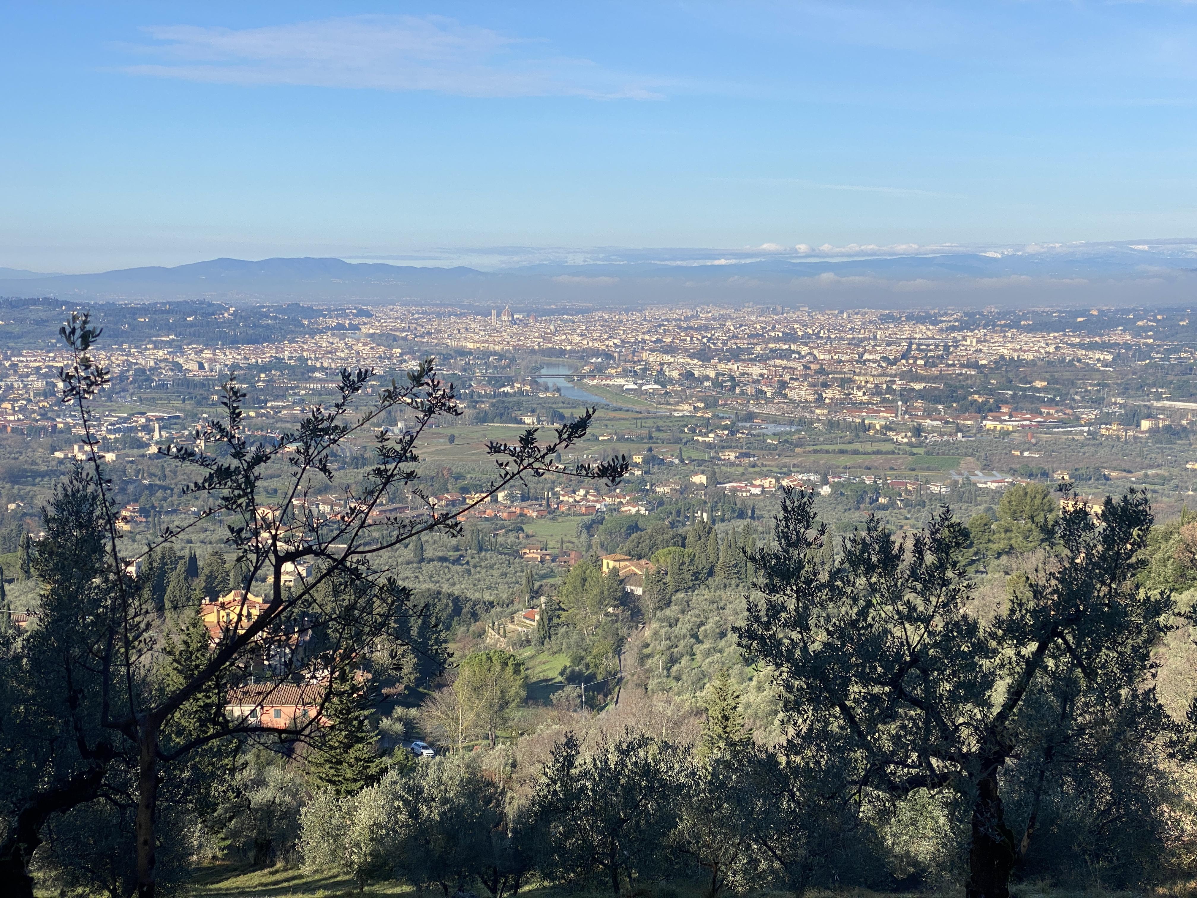vista Firenze dalle colline vicino Florence Villa Violetta